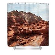 Unusual Rock Formations At Kodachrome Park, Utah Shower Curtain