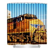 Up 5915 At Track Speed Shower Curtain