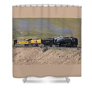 Up 844 Steams Over The Altamont Pass  Shower Curtain