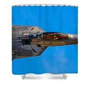 Up Close F-22 Raptor Shower Curtain