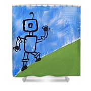 Up Hill Climb Shower Curtain