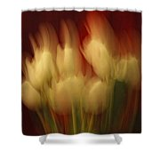 Up In Flames Shower Curtain by Donna Blackhall