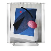 Up In Space Shower Curtain