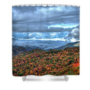 Up In The Clouds Blue Ridge Parkway Mountain Art Shower Curtain