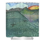 Up In The Mountains Shower Curtain