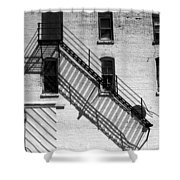 Up The Fire Escape Abstract Shower Curtain
