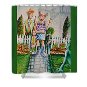 Up The Garden Path Shower Curtain