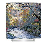 Up The Mountain We Go Shower Curtain
