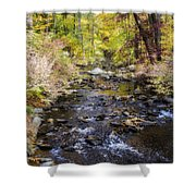Up The River Gg  5671 Shower Curtain