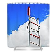 Up The Sky Shower Curtain
