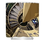 Up The Spiral Staircase Shower Curtain