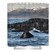 Up The Stikine Shower Curtain