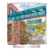 Sedona Up Town Mall In Sedona, California Shower Curtain