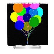 Upbeat Balloons Shower Curtain
