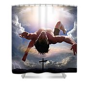 Upheld By Grace Shower Curtain