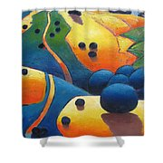 Uphill Climb Revisited. Shower Curtain