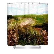 Uphill Curve Shower Curtain