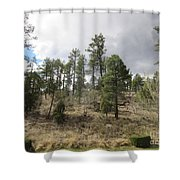 Uphill From Here Shower Curtain