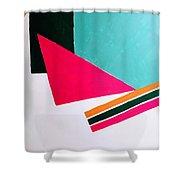 Uphill Shower Curtain