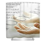 Uplifting214 Shower Curtain