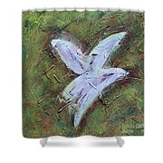 Upon Angels Wings Of Change Shower Curtain