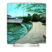 Upon Ashore Shower Curtain