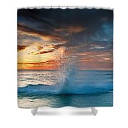 Upon Day's End Shower Curtain