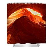 Upper Antelope Sunlit Layers Shower Curtain