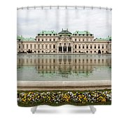 Upper Belvedere And Its Reflection  Shower Curtain