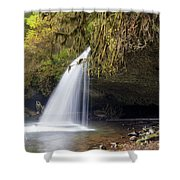 Upper Butte Creek Falls Closeup Shower Curtain