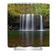 Upper Butte Creek Falls In Fall Season Shower Curtain