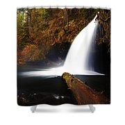Upper Butte Creek Falls Shower Curtain