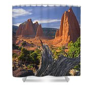 212645-upper Cathedral Valley  Shower Curtain