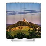Upper Church With Two Towers In Banska Stiavnica, Slovakia Shower Curtain