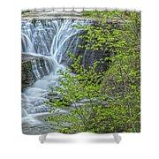 Upper Falls At Mine Kill State Park Shower Curtain