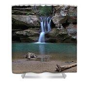 Upper Falls In Hocking Hills Shower Curtain