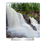 Upper Gooseberry Falls Shower Curtain