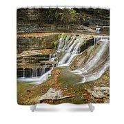 Upper Gorge Falls Of Enfield Glen In Treman State Park Shower Curtain