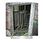 Upper Hoist Doorway Shower Curtain