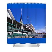 Upper Level Viewing Stands At Churchill Downs Shower Curtain