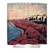 Upper Manhattan Along The Hudson River Shower Curtain
