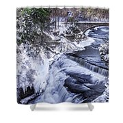 Upper Taughannock Winter Shower Curtain