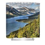 Upper Waterton Lake Valley Shower Curtain