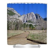 Upper Yosemite Fall And The Trail Shower Curtain