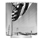 Upraised Flag Support Mlk Day March Tucson Arizona 1991 Shower Curtain