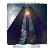 Uprightly Shower Curtain