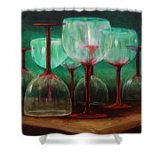 Upsidedown Shower Curtain