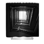 Upstairs- Black And White Photography By Linda Woods Shower Curtain