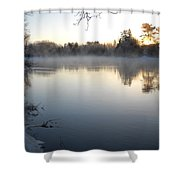 Upstream Mississippi River After Ice Out Shower Curtain