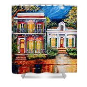 Uptown In The Moonlight Shower Curtain